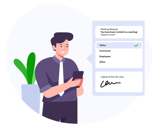 TDS Visitor Management Mobile Notifications