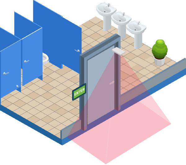 Toilet with sensor